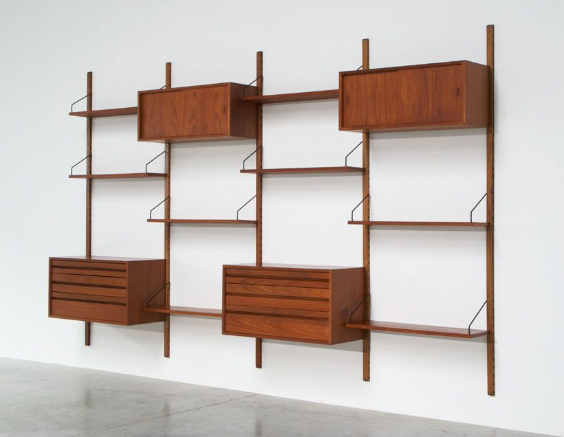 cadovius poul modular wall unit for royal system | modular walls
