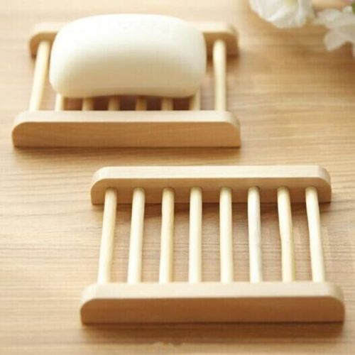 Natural-Wood-Soap-Tray-Dish-Storage-Holder-Bath-Shower-Plate-Home ...