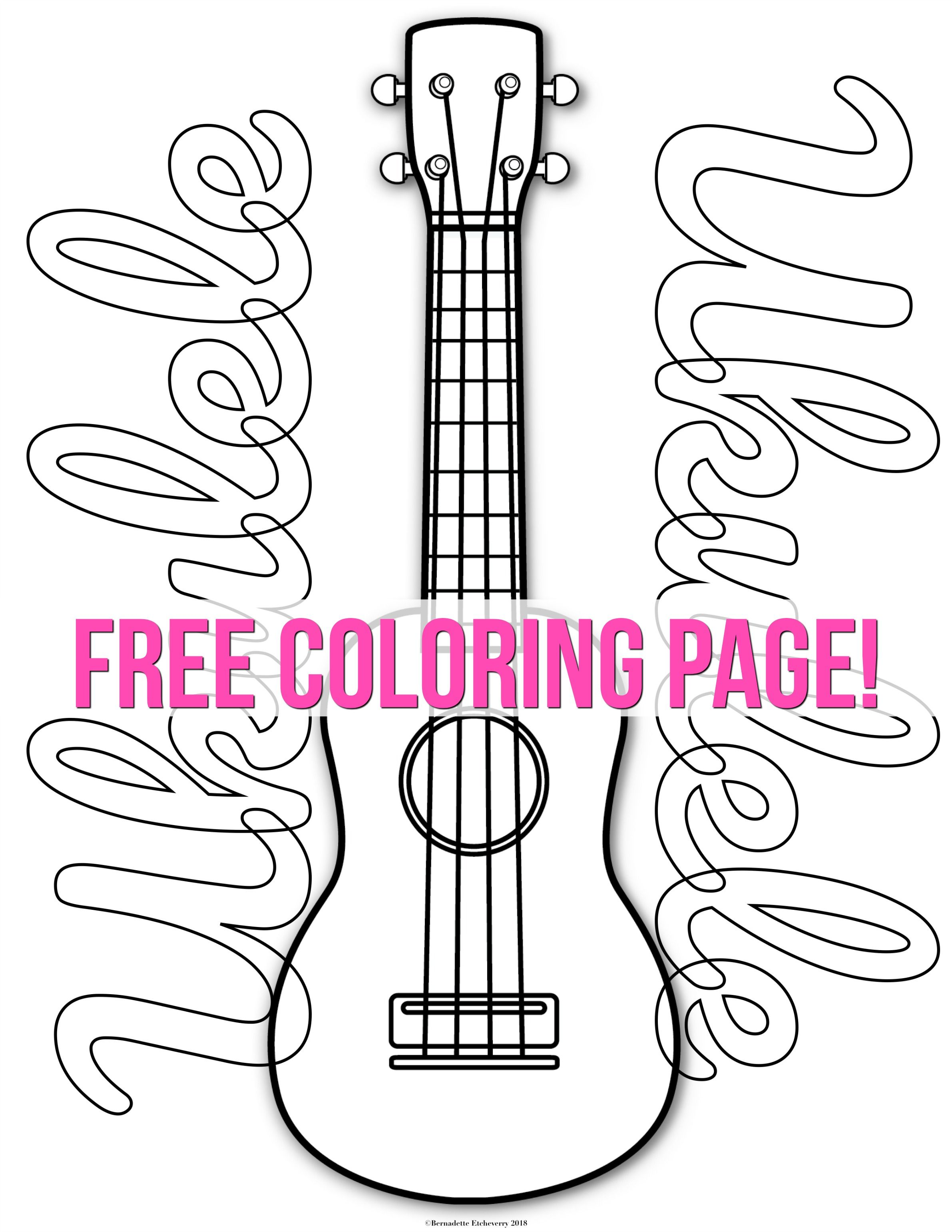 Host an Ukulele Coloring Exhibition or Competition! From time to ...