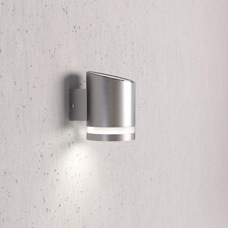 Solarcentre Truro LED Solar Outdoor Wall light - Brushed Steel - solarleuchten garten antik