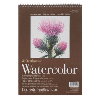 Strathmore 400 Series Watercolor Paper Pad 9 X 12 Watercolor