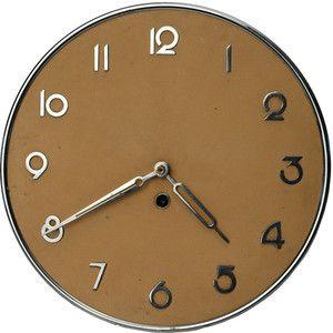 Sleek Art Deco Modernism German Kienzle Wall Clock Seiko Watch