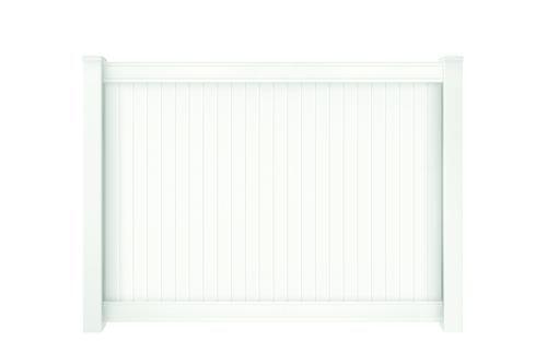 6 X 8 White Vinyl Richmond Fence Panel Kit At Menards