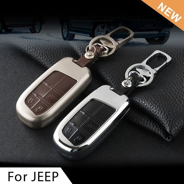 Genuine Leather Car Key Cover Key Case For Jeep Grand Cherokee Renegade 2014 2015 Chrysler 300c Fiat Freemont Auto Accessories Car Accessories Jeep Grand Cherokee Accessories Accessories