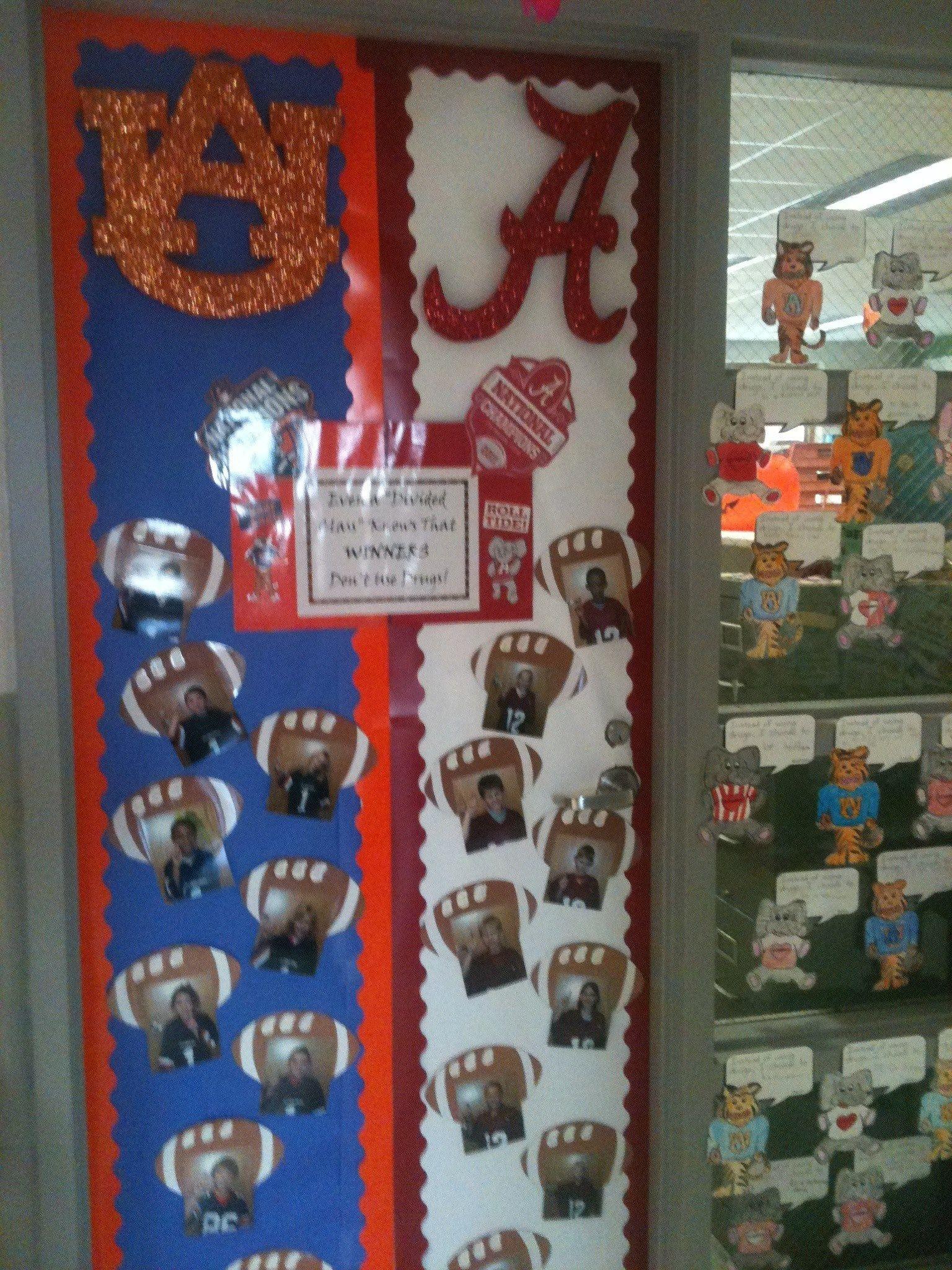 Alabama Auburn Drug Free Door Decoration School Door