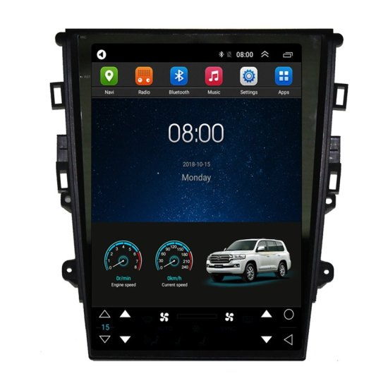12 1 Tesla Style Android Car Multimedia Stereo Radio Audio Dvd Gps Navigation Sat Nav Head Unit Ford Mondeo Mk5 2013 2014 2015 2016 2017 2018 2019