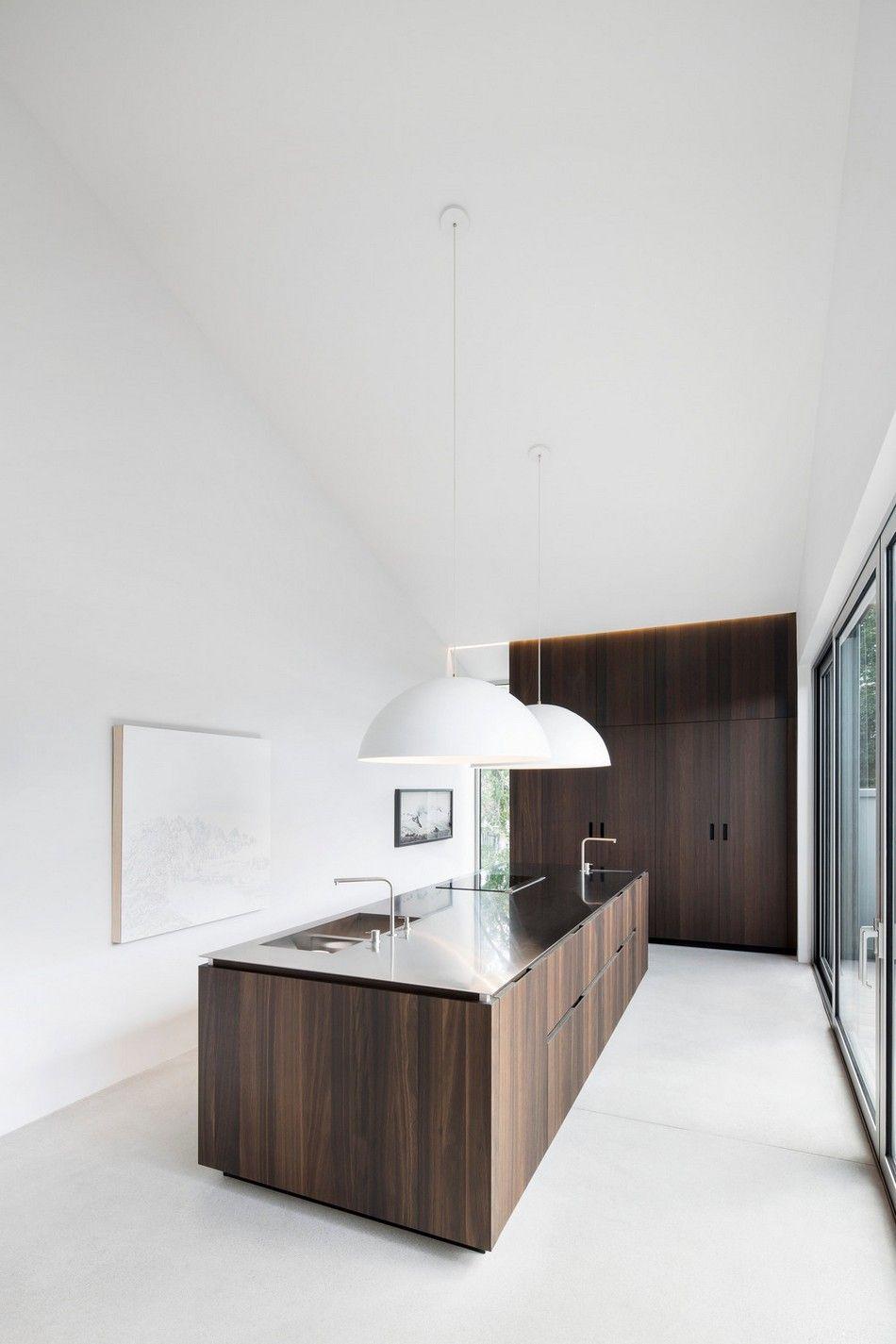Küchenideen eiche modern residence   minimalistisch  pinterest  haus küchen