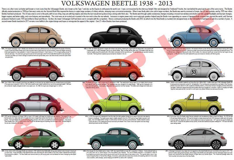 volkswagen vw beetle evolution chart volkswagen oo beetle volkswagen vw beetles