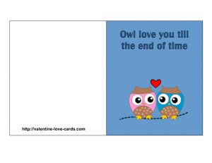 graphic about Printable Love Card named cost-free printable owl enjoy card Printables Enjoy playing cards, Appreciate