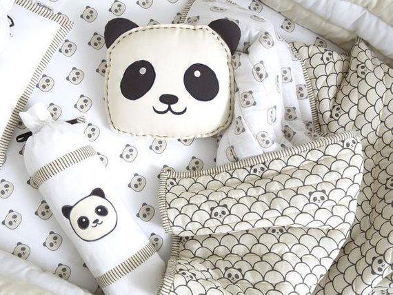 0a7df4d55272 Peekaboo Panda - Organic Shape Cushion