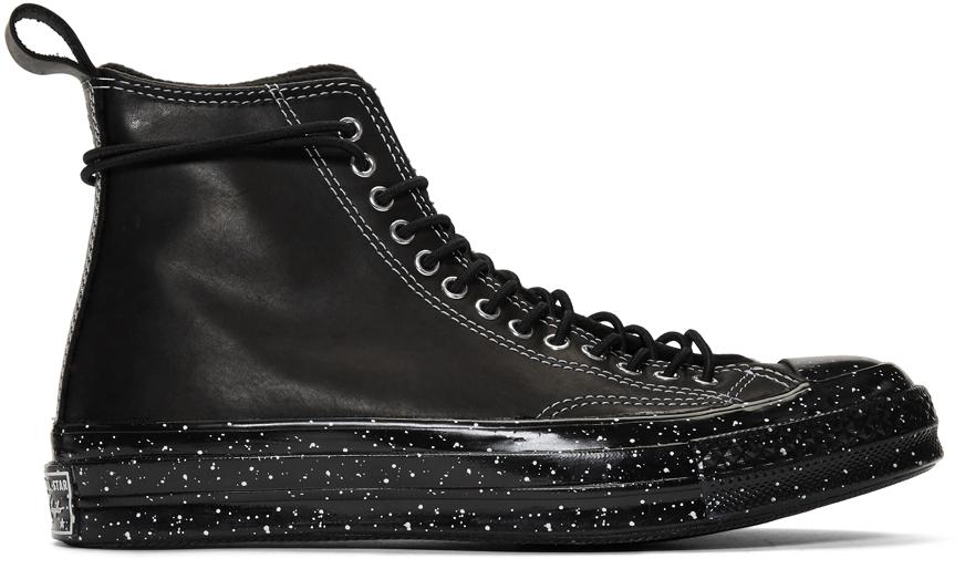 Converse: Black Chuck 70 Speckled Hi