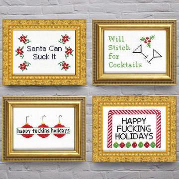 so naughty but they really made me laugh ;)  Fab.com | Seasonally Snotty Stitching Kits