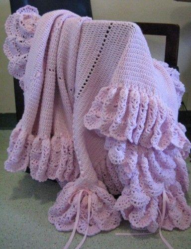 Heirloom treasure ruffled thread crochet baby afghan afghans heirloom treasure ruffled thread crochet baby afghan dt1010fo