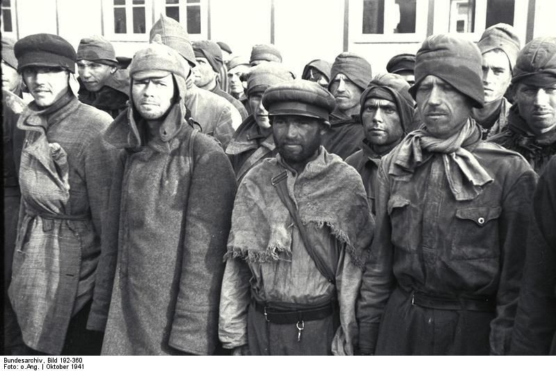 another group of Soviet POWs was moved through town ...
