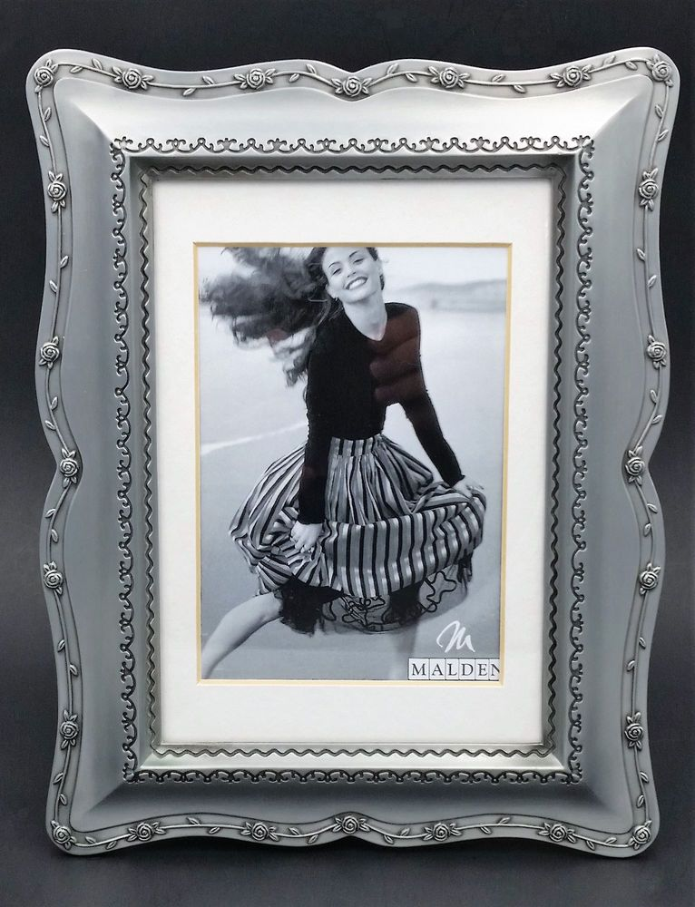 Best Malden Pewter Color Metal Photo Picture Frame 5X7 Vertical 640 x 480