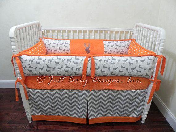 Custom Baby Crib Bedding Set Scout Deer Crib by BabyBeddingbyJBD