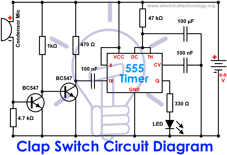 Peachy Clap Switch Circuit Using Ic 555 Timer Without Timer Electronic Wiring Cloud Hisonuggs Outletorg