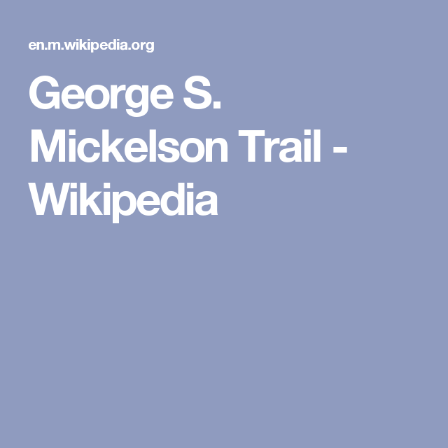 George S. Mickelson Trail - Wikipedia