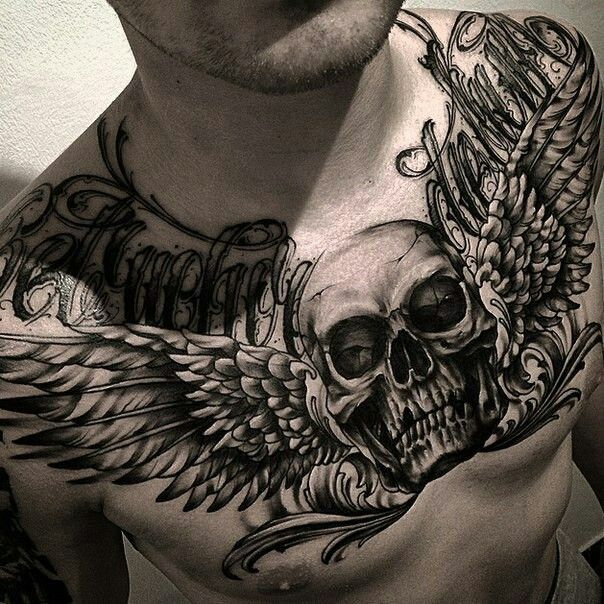 Pin by pugachov dmitry on ideas for my tattoo pinterest for Chest and neck tattoos