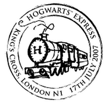 Harry Potter: Hogwarts' Express Steam Train Postmark