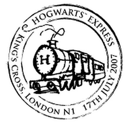 Harry Potter Hogwarts Express Steam Train Postmark Hogwarts