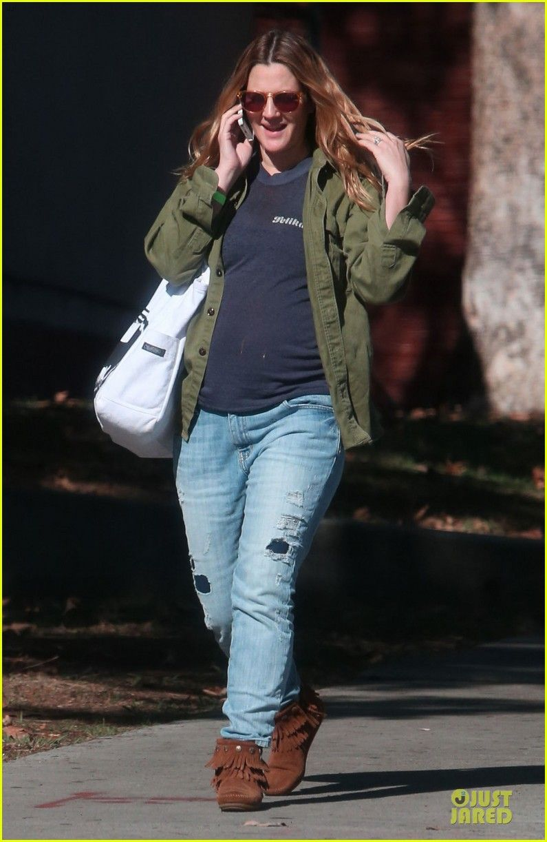 Drew Barrymore spotted out and about in LA wearing her Minnetonka Double  Fringe Side Zip Boots! 6ae798f4a9c9