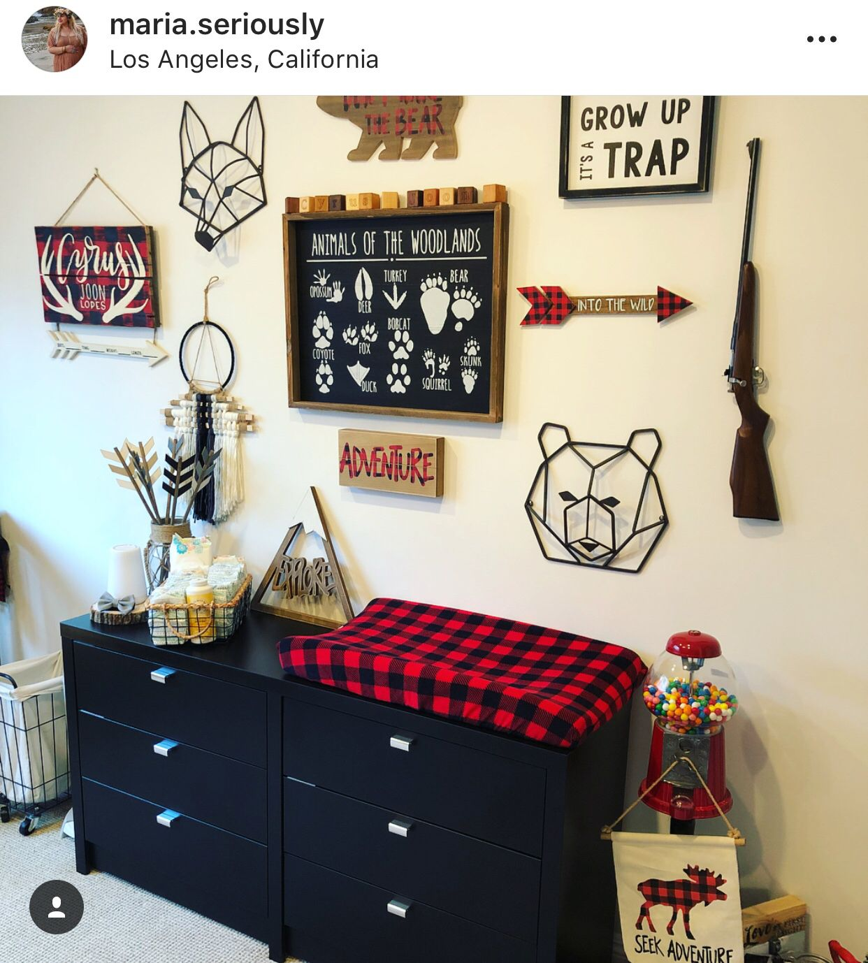 Buffalo Plaid Nursery Featuring Holls