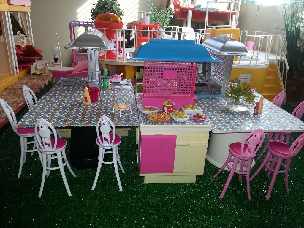 Barbie Wicker Patio Furniture Repaint Diorama