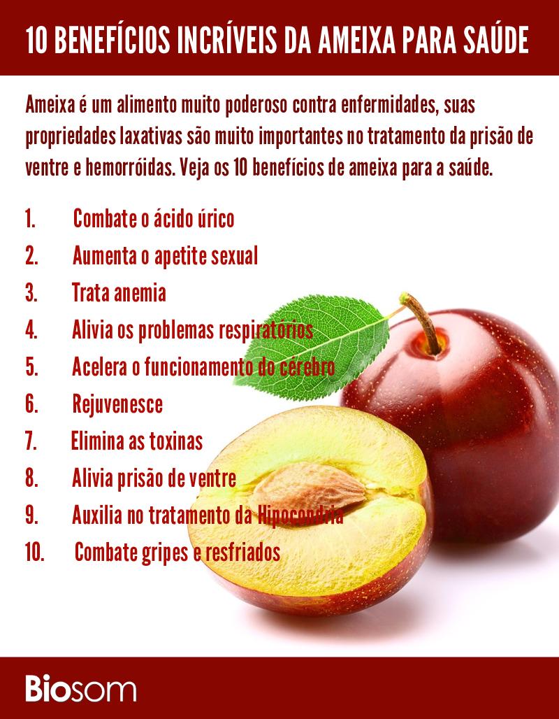 0c6a6f76fb Clique na imagem para ver os 10 benefícios incríveis da ameixa para saúde…