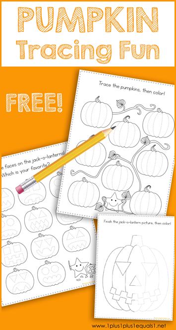 Tracing Fun Pumpkins | Kid Blogger Network Activities & Crafts ...