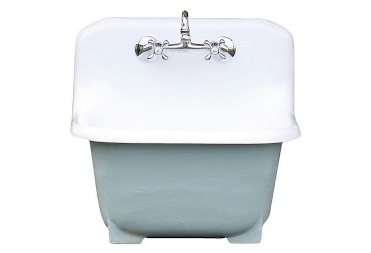 Deep Basin Cast Iron Porcelain Farm Utility Sink | Utility sinks ...