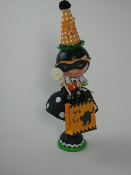 Halloween Clothespin Doll by lallygag on Etsy, $25.00