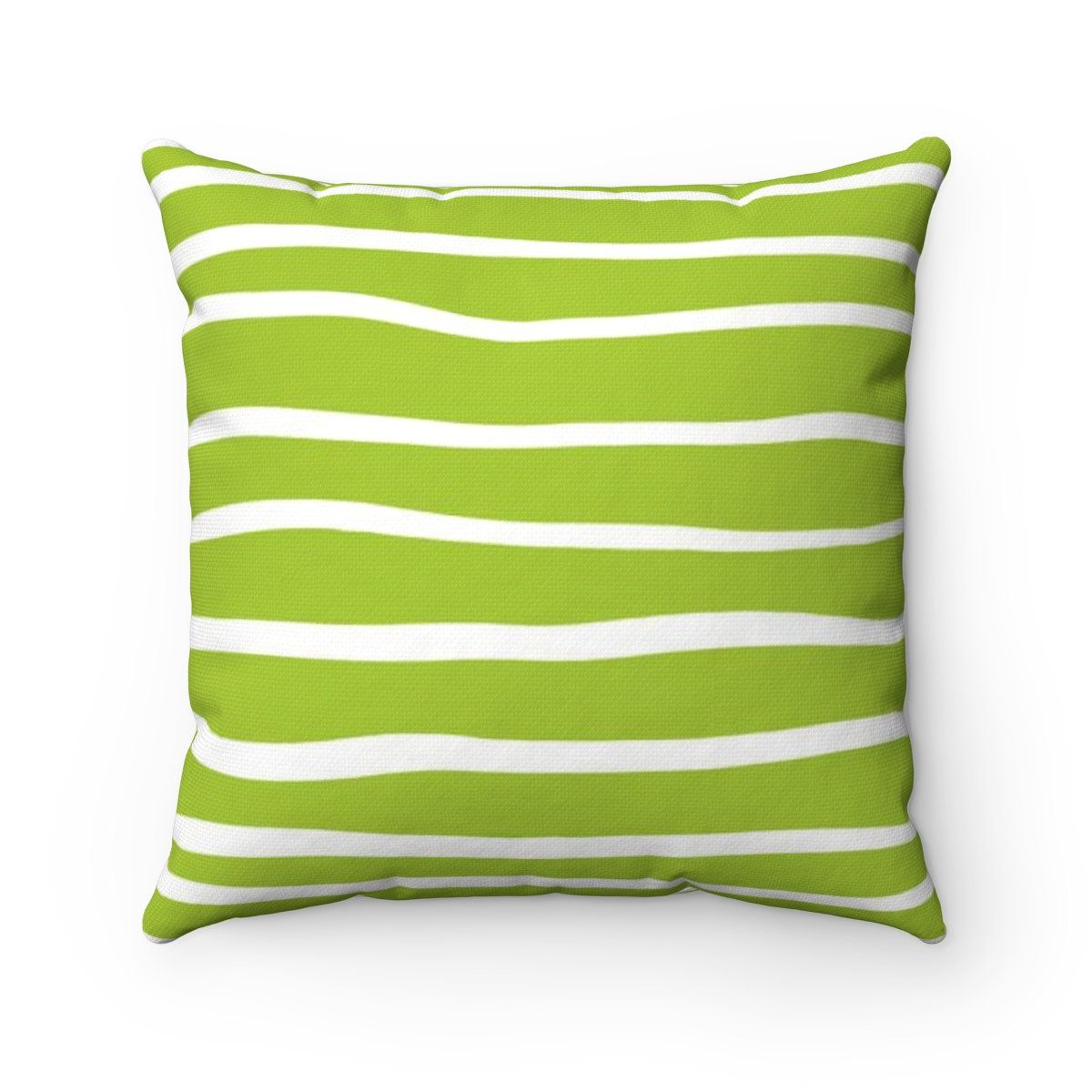 Outdoor Throw Pillow Lime Green Outdoor Pillow Lime Stripe