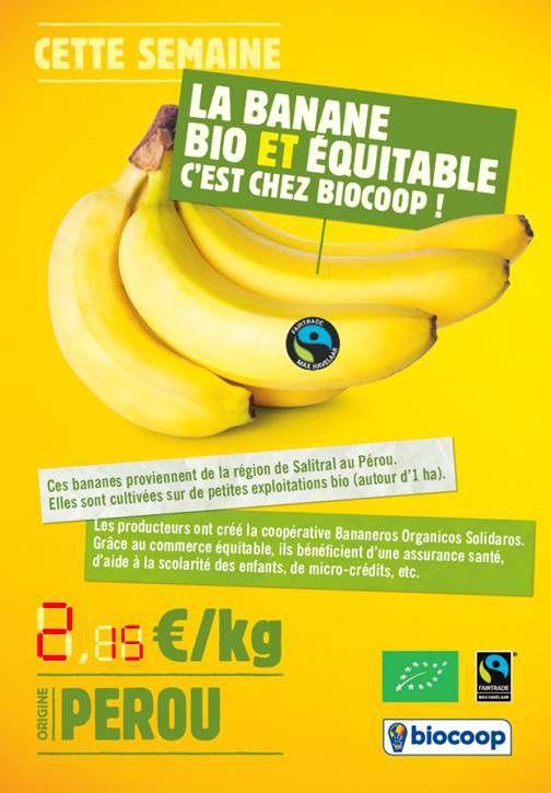 Image La Banane Produit Du Mois Biocoop Assurance Sante Banane