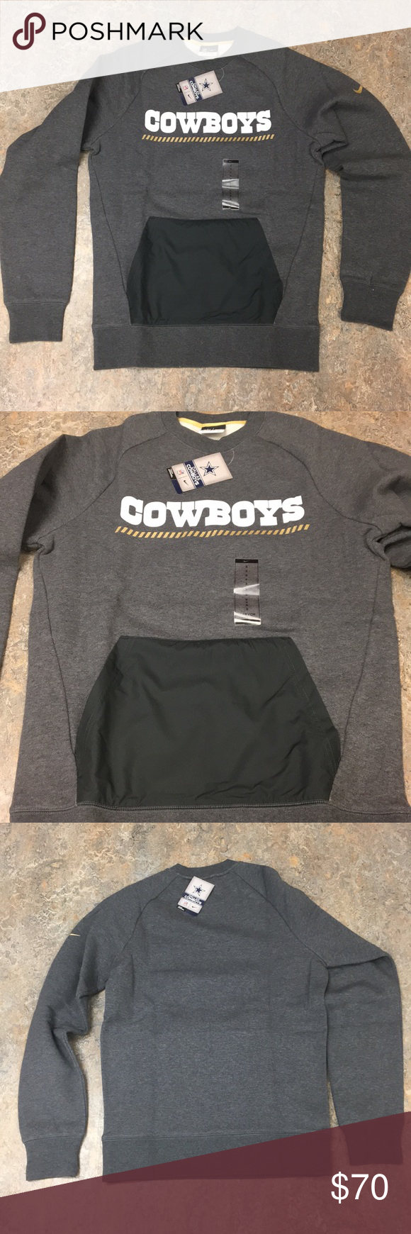 Dallas Cowboys Nike Men S Crew Sweatshirt Small Sweatshirts Nike Men Crew Sweatshirts [ 1740 x 580 Pixel ]