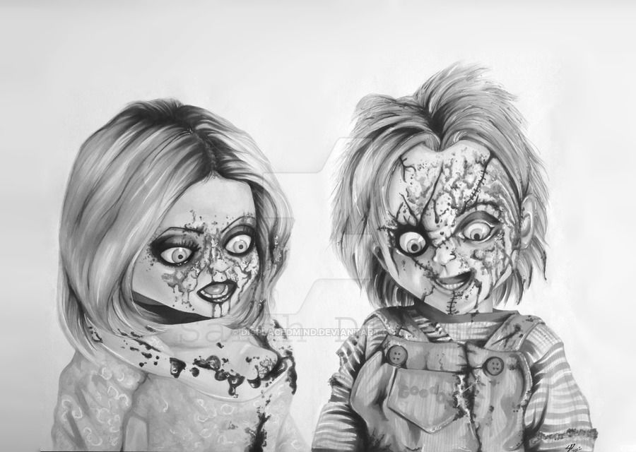 Chucky And Tiffany By Displacedmind Deviantart Com On Deviantart