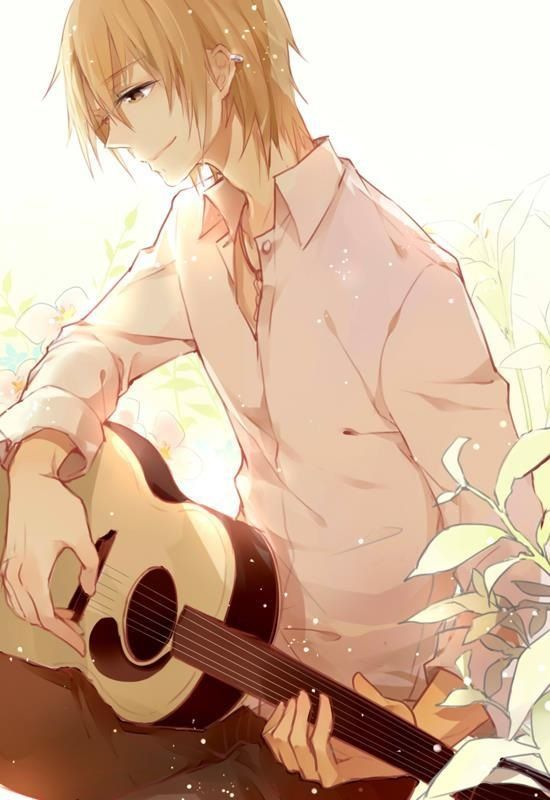 Image result for blond anime guitar