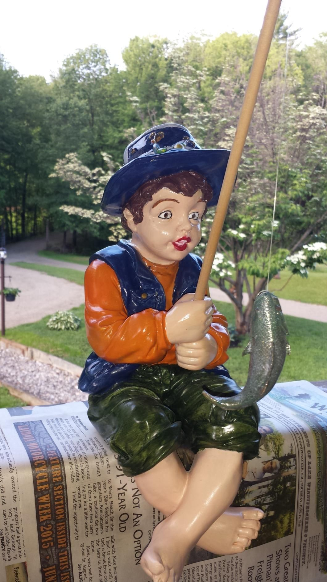 Design Toscano Frederic, the Little Fisherman