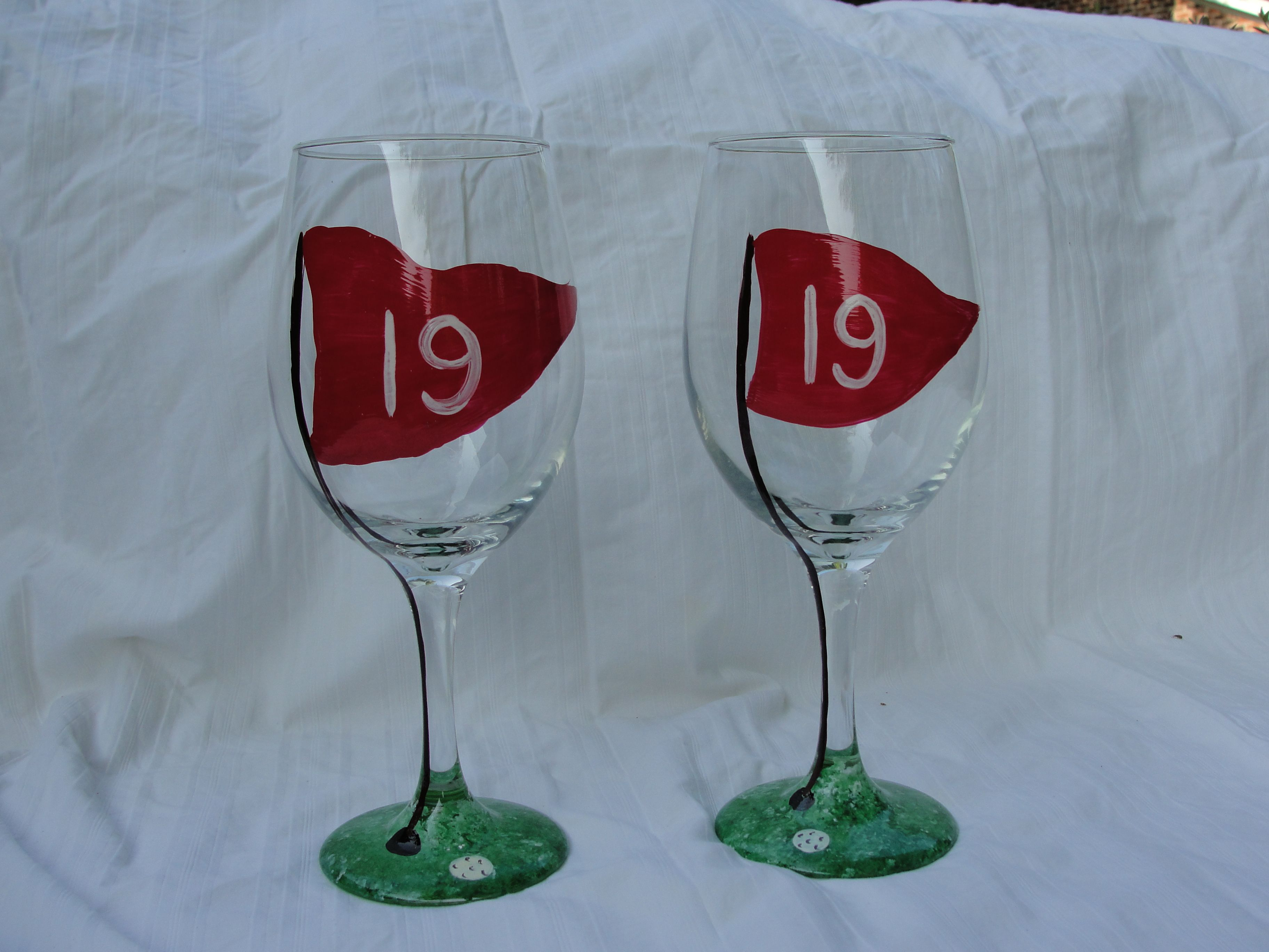 Fancy Wine Glass Hand Painted Glasses Decorative Personalized Wine