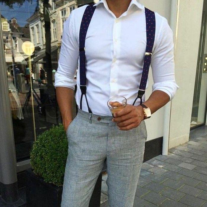 Comment porter des bretelles? 60 images qui vont répondre à cette question!  | Costumes, Man style and Dandy