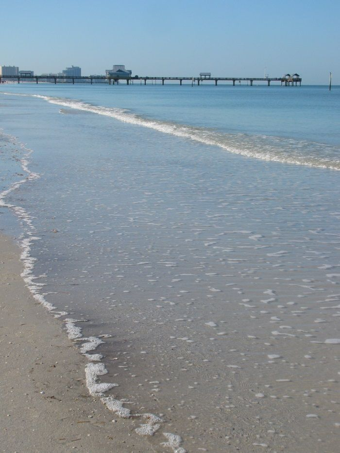 Calm Gulf of Mexico waters at Clearwater Beach.   #beach #sand