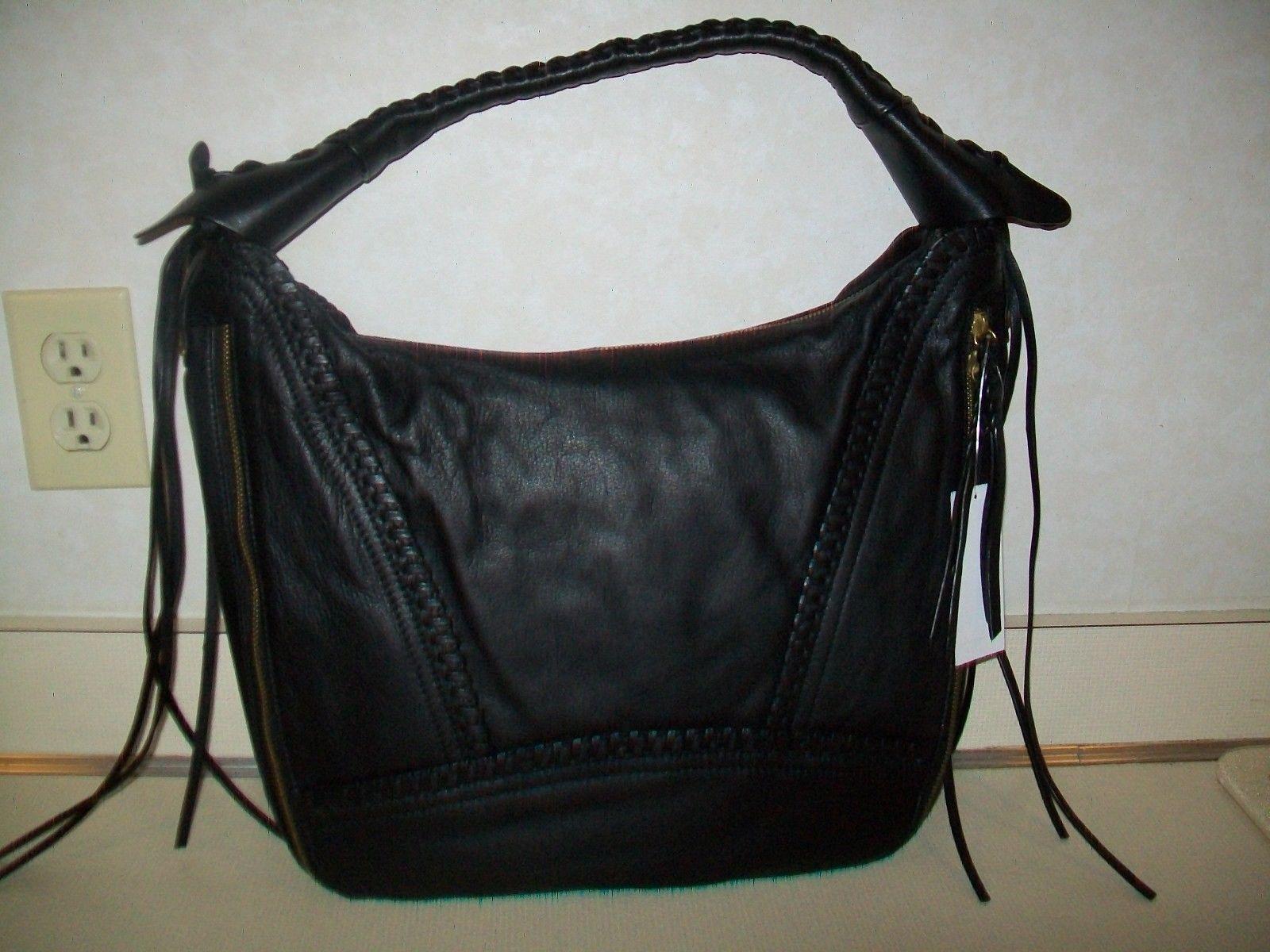 1d26eb5b87 orYANY Soft Nappa Leather MICHELLE Purse Handbag Hobo QVC   A270292 Black  NWT  89.99