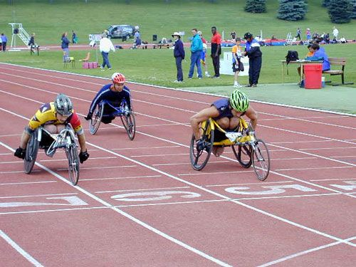 handcycling, is a popular adaptive sport. This is a great activity to stay in shape and be competitive in a healthy way.