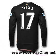 Maillot De Foot Arsenal Noir ALEXIS 17 Manche Longue Third 15 2016 2017 Pas Chere