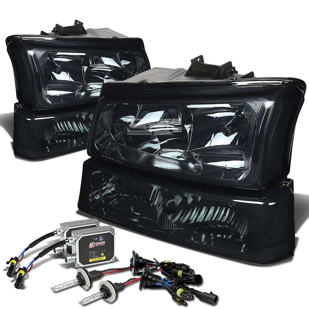 Details About Smoke Housing Clear Signal Headlight 12000k Hid Kit For 03 06 Chevy Silverado Chevy Silverado Accessories Silverado Accessories Chevy Silverado