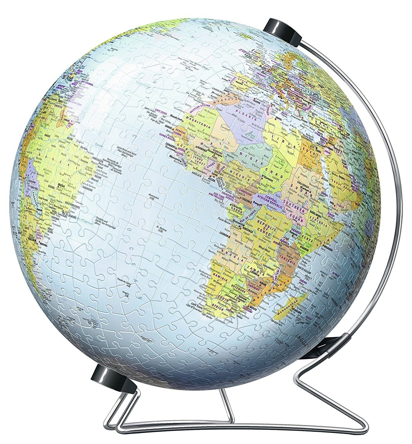 The Earth 540 Pc World Globe 3d Puzzle With Rotation Stand World Map Puzzle Diy Projects To Make And Sell World Globes