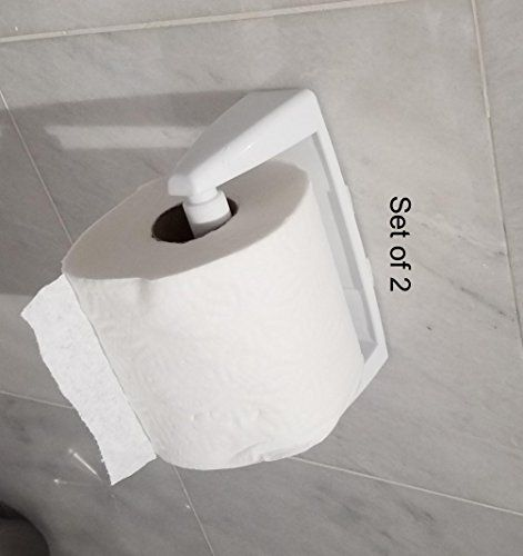 Set Of 2 Plastic Wall Mounting Toilet Paper Holder Want