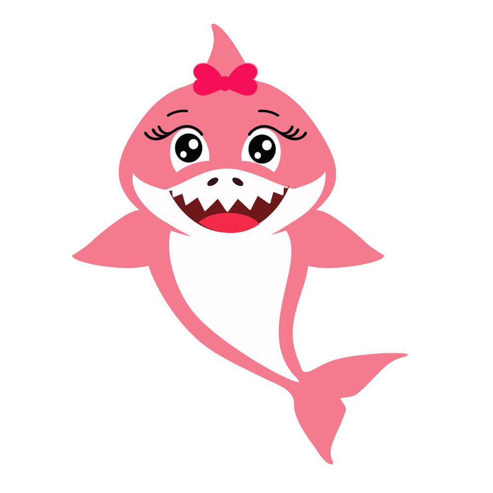 Cute Pink Decorative Baby Shark Vector Baby Shark Shark Theme Birthday Cute Pink