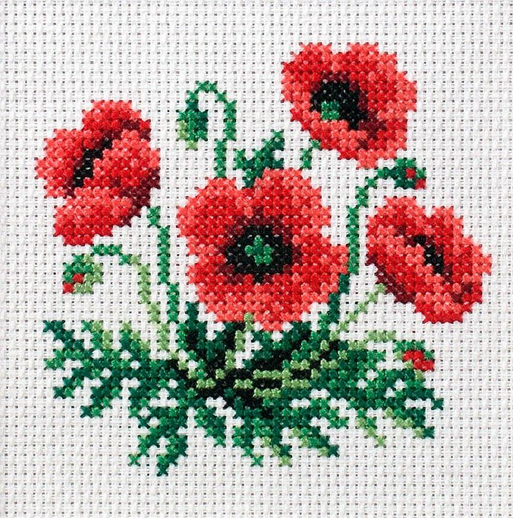 Cross stitch flowers punto de cruz pinterest