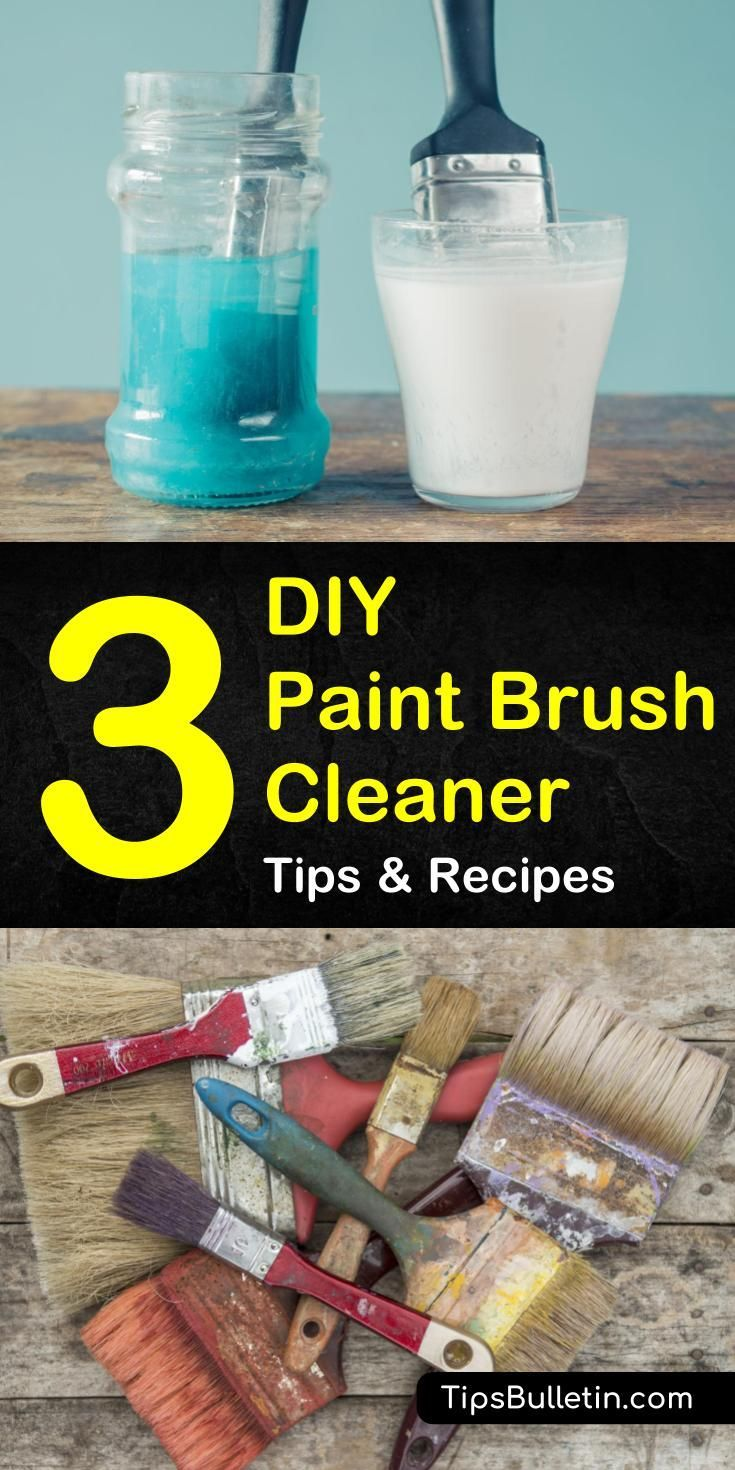 how to clean paint brushes with mineral spirits